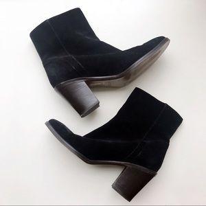 J. Crew Suede Zip Ankle Boots